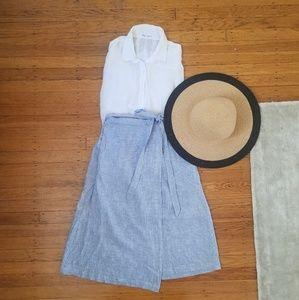 BCBGeneration Striped Wrap Skirt